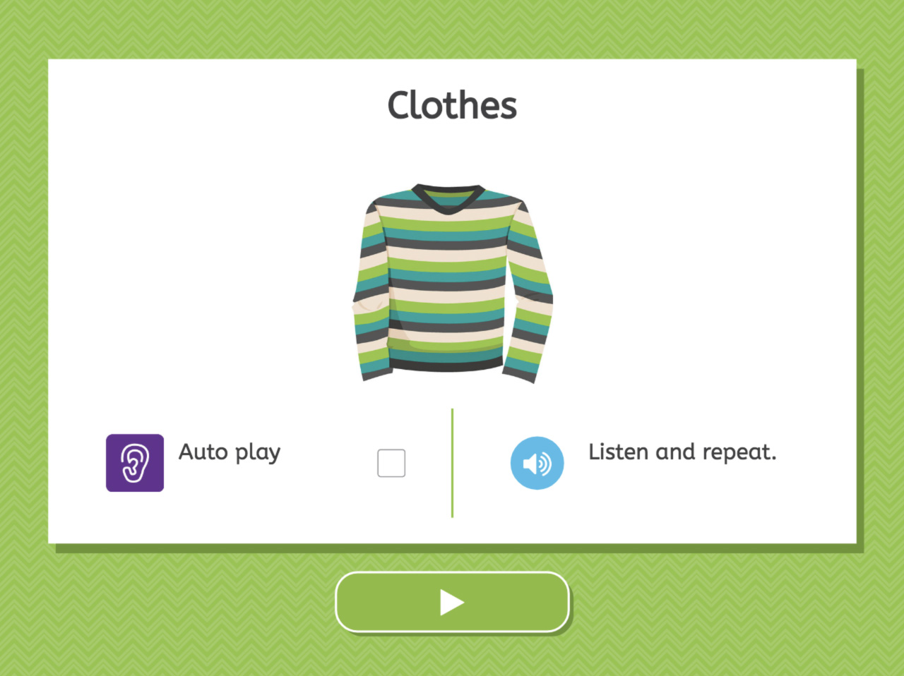 Clothes - Listening screenshot